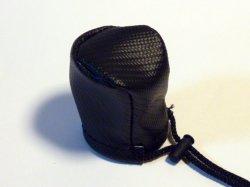 画像1: スポルト シフトノブカバー ブラックカーボンレザー